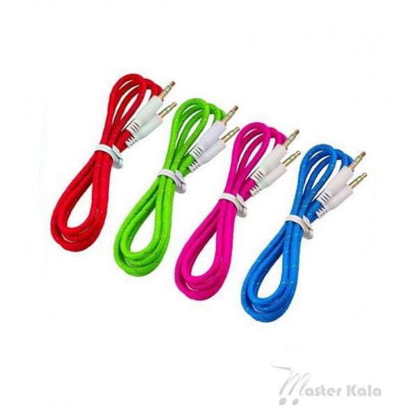 کابل طنابی Aux انتقال دهنده صدا با جک 3.5 میلیمتری