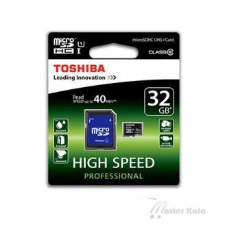 کارت حافظه میکرو اس دی 32 گیگابایت توشیبا Adapter+MicroSDHC UHS-I
