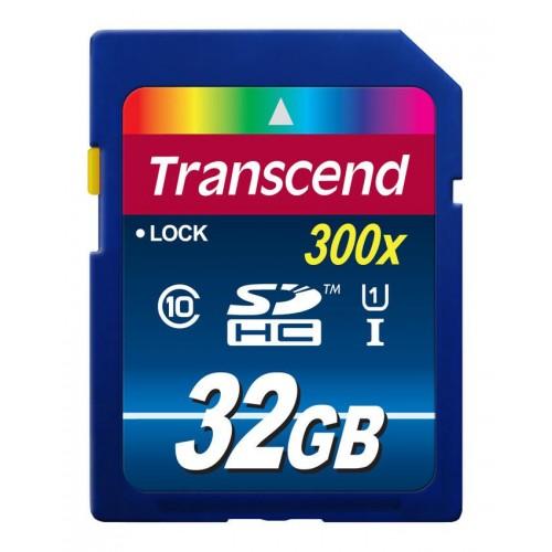 کارت حافظه اس دی 32 گیگابایت Transcend SDXC Premium 300x UHS-l U1