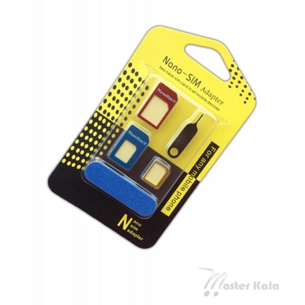 تبدیل فلزی سیم کارت های نانو و میکرو به استاندارد Nano Sim Adapter
