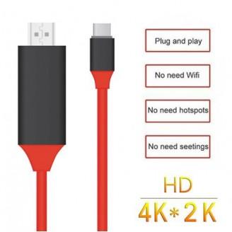 کابل HDMI تایپ سی 2 متری برای اتصال به تلویزیون و نمایشگر Earldom ET-WS8C