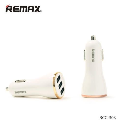 شارژر فندکی 3 پورت Remax ریمکس Dolfin RCC303