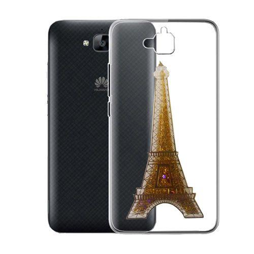 کاور آکواریومی طرح پاریس مناسب برای Huawei Ascend Y6 Pro