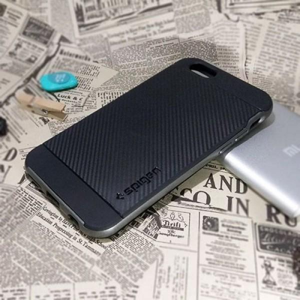 کاور اسپیگن سری Neo Hybrid Carbon مناسب Apple iPhone 6-6S
