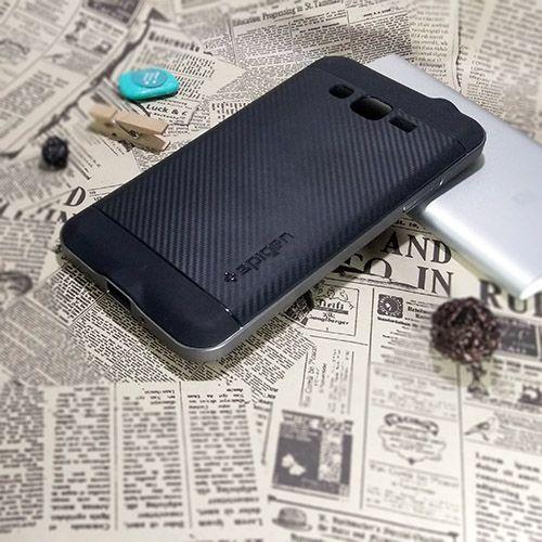 کاور اسپیگن سری Neo Hybrid Carbon مناسب Samsung Galaxy Grand Prime