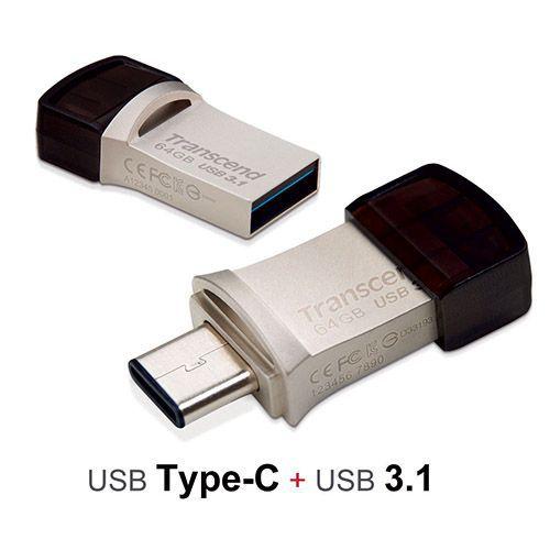 فلش مموری 32 گیگابایت ترنسند مدل JetFlash 890S Type-C USB 3.0