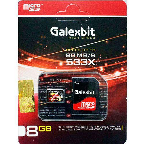 کارت حافظه میکرو اس دی 8 گیگابایت Galexbit 533x 80MB UHS-l U1