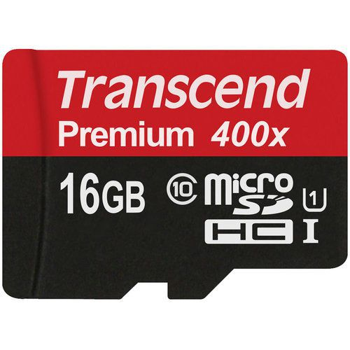 کارت حافظه میکرو اس دی 16 گیگابایت Transcend Premium UHS-l U1 400x