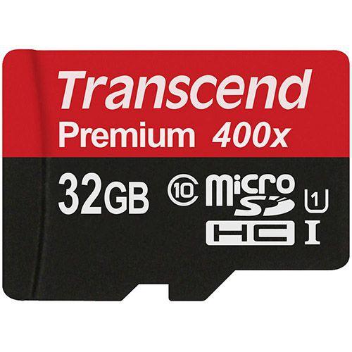 کارت حافظه میکرو اس دی 32 گیگابایت Transcend Premium 400x UHS-l U1