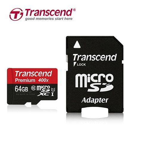 کارت حافظه میکرو اس دی 64 گیگابایت Transcend Premium UHS-I U1 400x