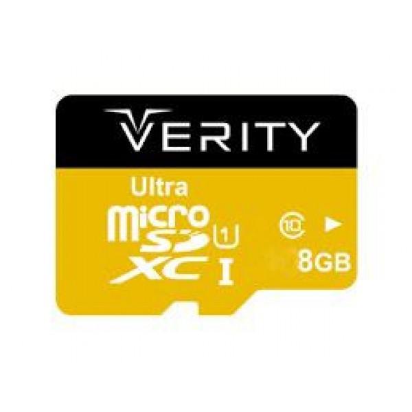 کارت حافظه میکرو اس دی 8 گیگابایت وریتی Verity UHS-I U1 633x 95MB