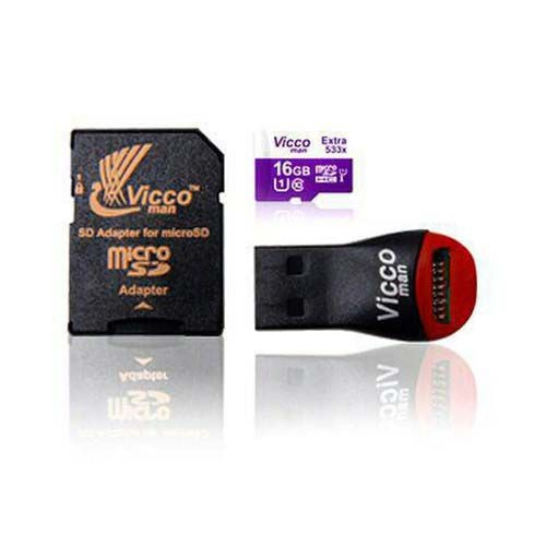 کارت حافظه میکرو اس دی 16 گیگابایت ViccoMan Extra 533x Plus UHS-l U1