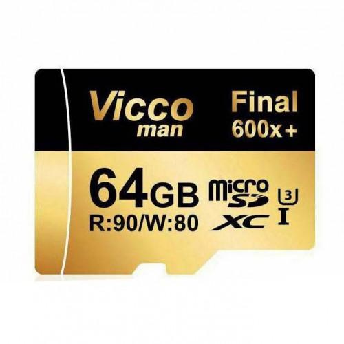 کارت حافظه میکرو اس دی 64 گیگابایت ViccoMan Final 600x Plus UHS-l U3