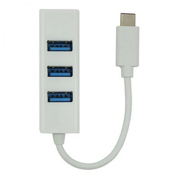 هاب 4 پورت USB با کابل Type C