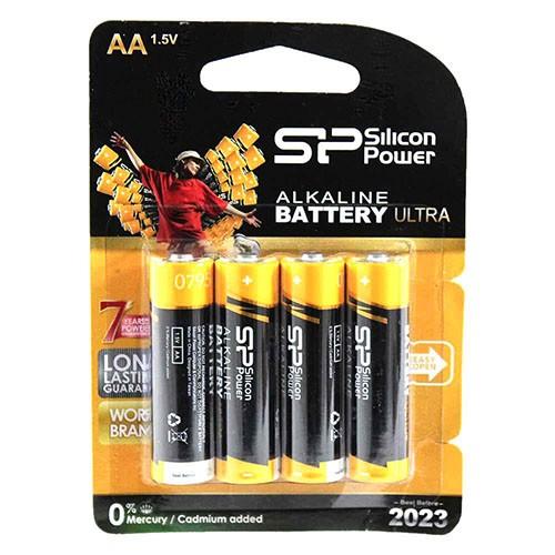 باتری قلمی 4 تایی سیلیکون پاور مدل Silicon Power Alkaline AA Ultra