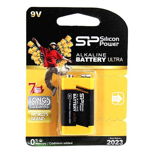 باتری کتابی سیلیکون پاور مدل Silicon Power Alkaline 9V Ultra