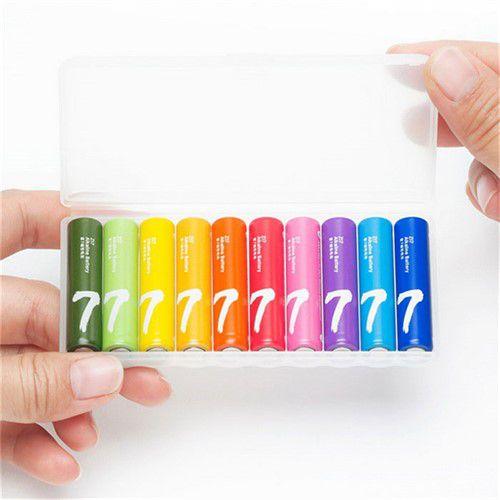 باتری رنگین کمانی نیم قلمی شیائومی مدل LR03 Alkaline AAA