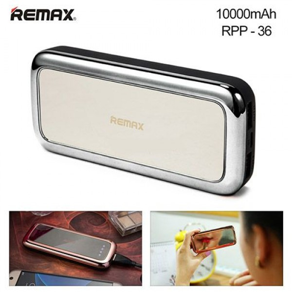 پاوربانک 10000 میلی آمپر ریمکس Remax Mirror RPP-36