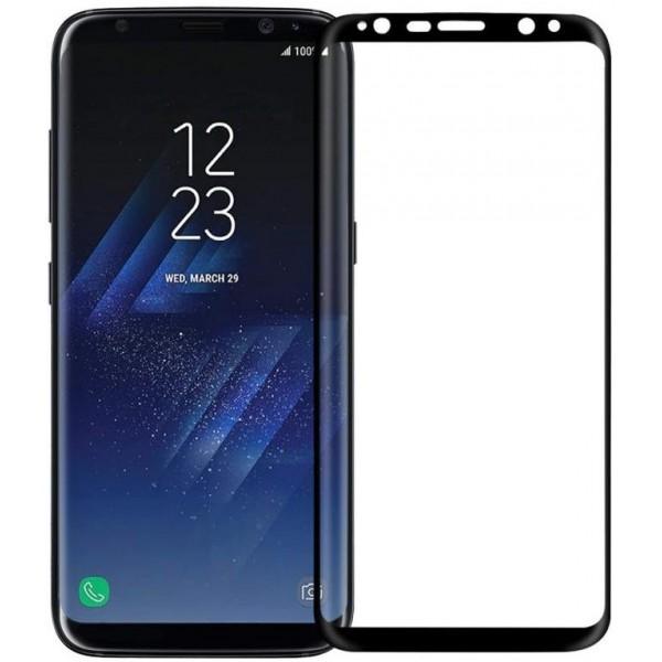 محافظ صفحه نمایش شیشه ای 3D و خمیده مارک V-Like مناسب Samsung S8 Plus