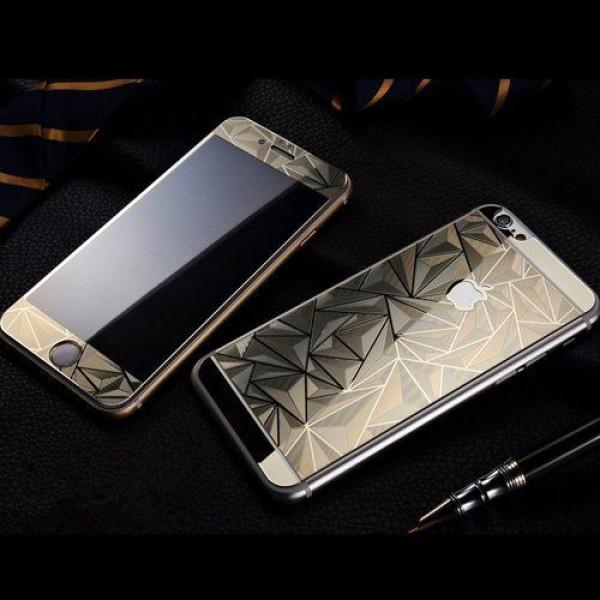 محافظ شیشه ای براق طرح لوزی پشت و رو مناسب برای Apple iPhone 6Plus-6s Plus
