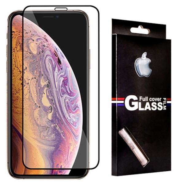 محافظ صفحه شیشه ای TT تمام صفحه تمام چسب 5D آیفون Apple iPhone XS Max