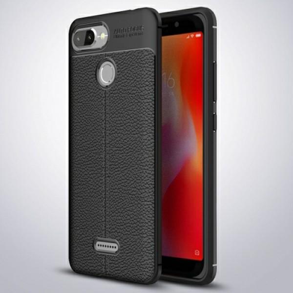 قاب محافظ ژله ای طرح چرم Xiaomi Redmi 6 مدل Auto Focus