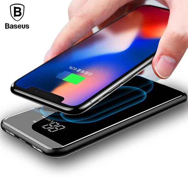 پاوربانک وایرلس 8000 میلی آمپر بیسوس Baseus Full Screen Bracket Wireless Charge Power Bank