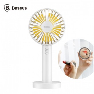 پنکه شارژی دوکاره بیسوس Baseus Macarons Fan CXMCL-02 همراه با آیینه