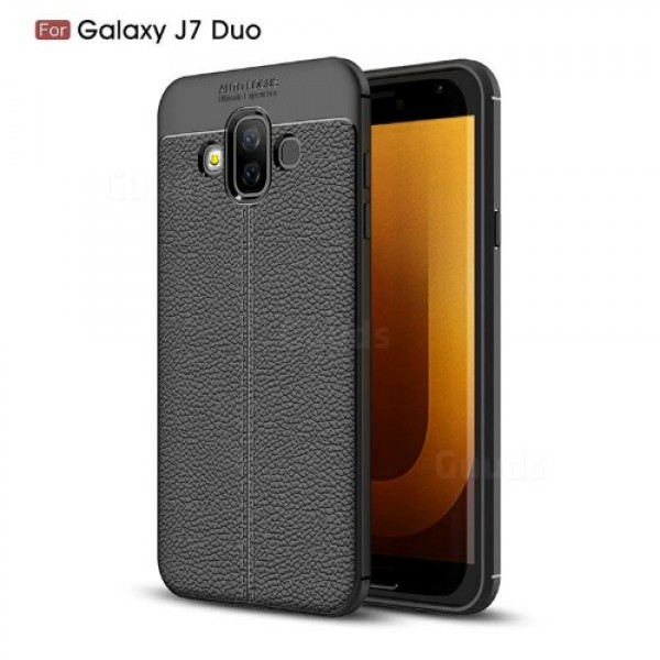 قاب محافظ ژله ای طرح چرم Becation Auto Focus Case Samsung Galaxy J7 DUO