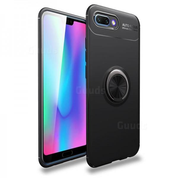 قاب محافظ ژله ای طرح چرم انگشتی Becation Auto Focus Magnetic Ring Case Huawei Honor 10