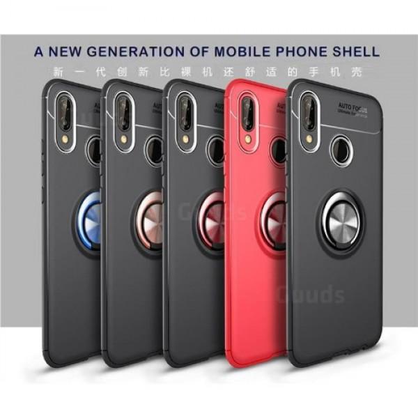 قاب محافظ ژله ای طرح چرم انگشتی Auto Focus Magnetic Ring Case Huawei Nova 3e / P20 Lite