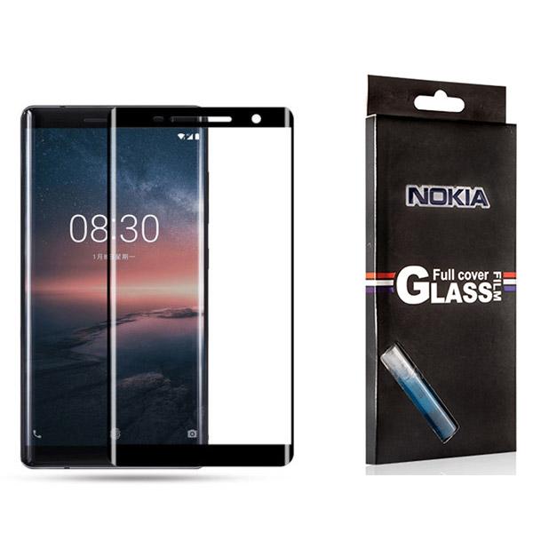 محافظ شیشه ای تمام صفحه 3D و خمیده دور چسب مارک TT مناسب Nokia 8 Sirocco