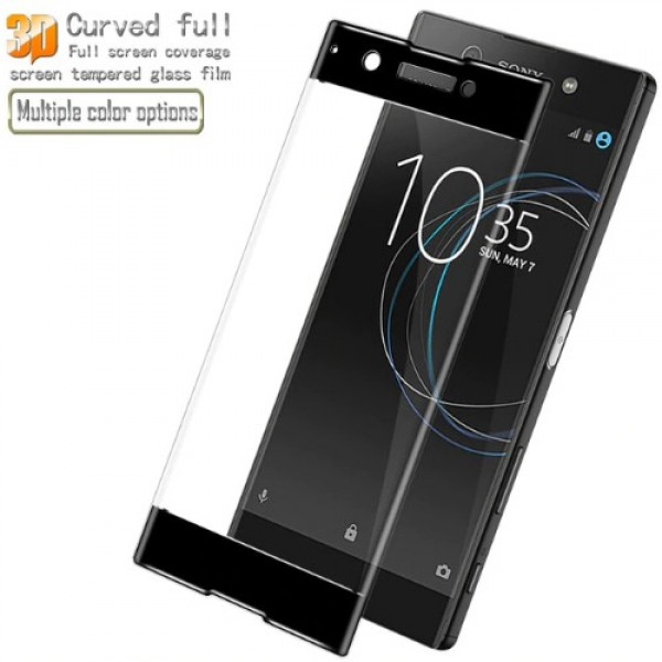 محافظ صفحه نمایش شیشه ای تمام صفحه دور چسب برای Sony Xperia XA1