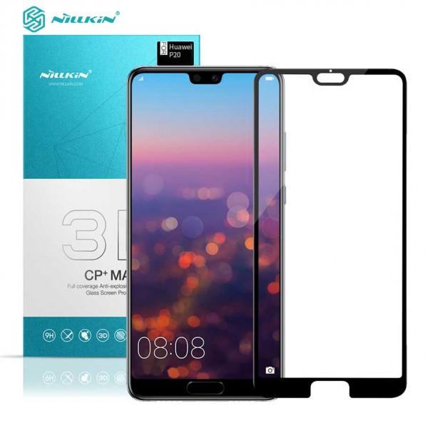 محافظ صفحه نمایش شیشه ای تمام صفحه نیلکین 3D CP+ Max Huawei P20 Pro