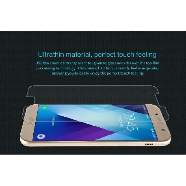 محافظ صفحه نمایش شیشه ای نیلکین سامسونگ Nillkin H Glass Samsung Galaxy A3 2017 / A320