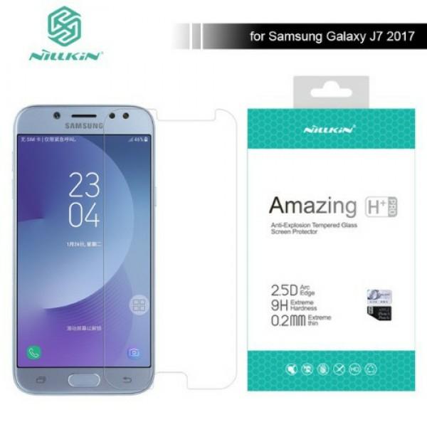 محافظ صفحه نمایش شیشه ای نیلکین H+ Pro Glass Samsung Galaxy J7 Pro / J7 2017