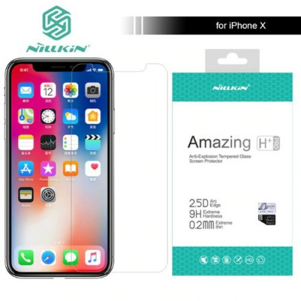 محافظ صفحه نمایش شیشه ای نیلکین H+ Pro Glass Apple iPhone X