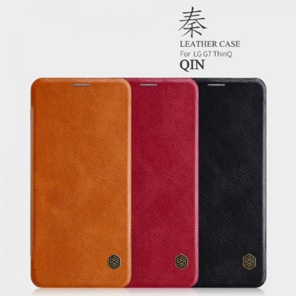 کیف چرمی نیلکین ال جی LG G7 ThinQ Nillkin Qin Leather Case
