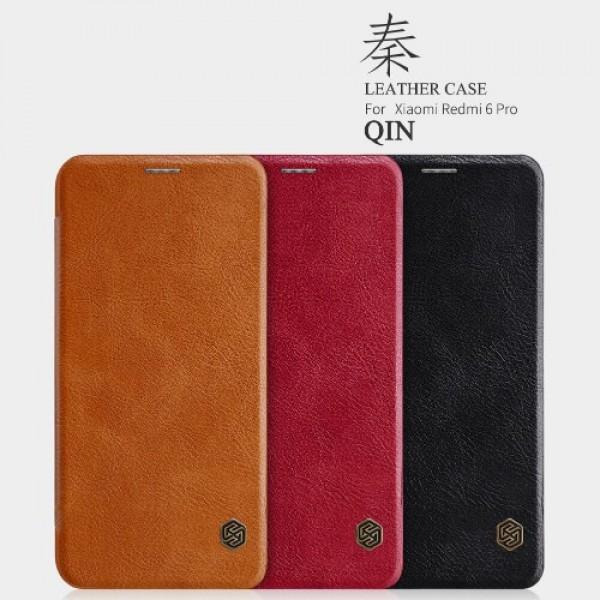 کیف چرمی نیلکین شیائومی Xiaomi Redmi 6 Pro / Mi A2 Lite Nillkin Qin