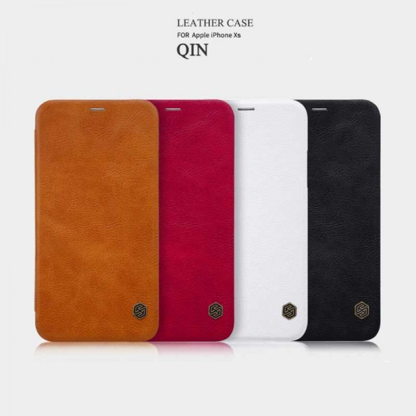 کیف چرمی نیلکین آیفون Apple iPhone X / XS Nillkin Qin Leather Case