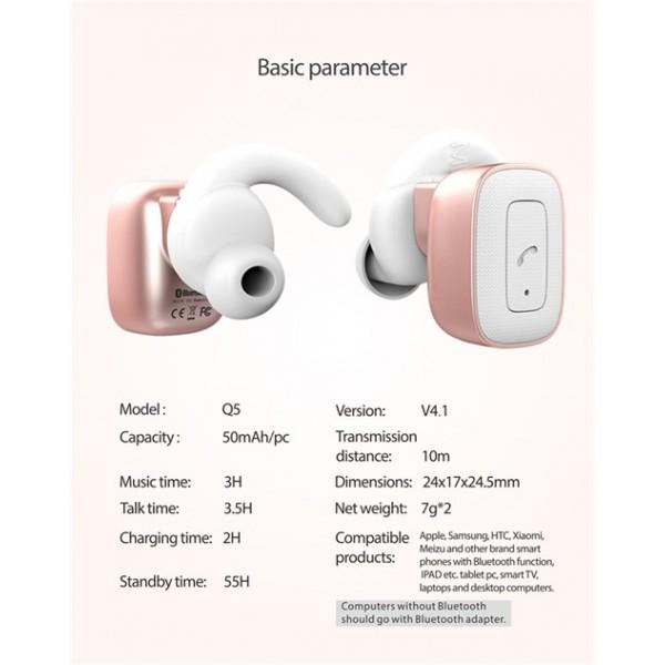 هندزفری بلوتوث دو گوش رومن Roman Q5 Earphone True Wireless Stereo