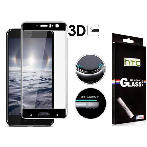 محافظ صفحه نمایش شیشه ای 3D و تمام صفحه دور چسب مارک TT مناسب HTC U11
