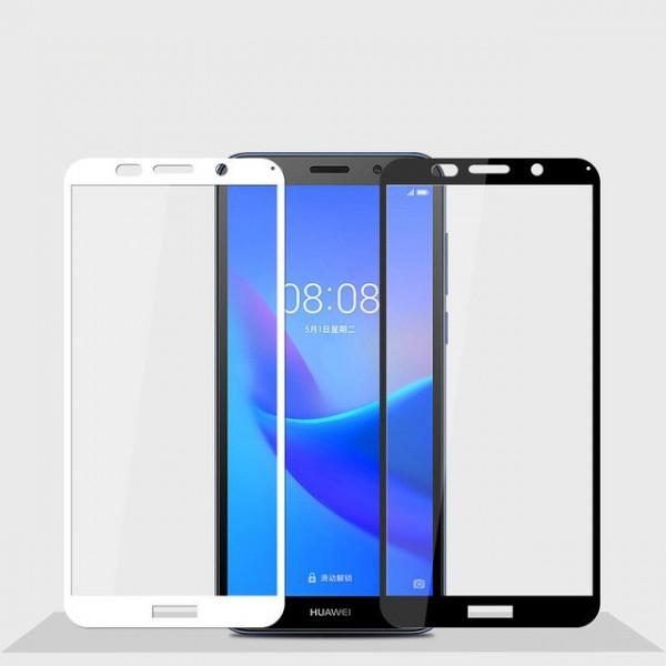 محافظ صفحه شیشه ای تمام صفحه تمام چسب مارک TT هواوی Huawei Y5 Prime 2018/Y5 2018
