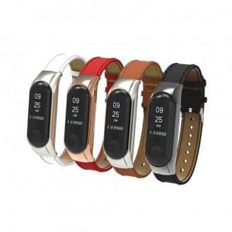 بند چرمی دستبند سلامتی شیائومی Xiaomi Mi Band 3 Leather Strap