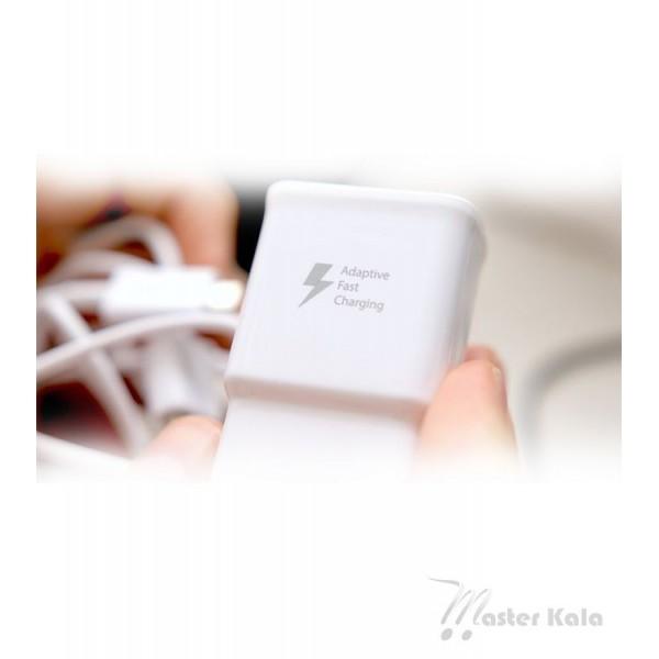 شارژر اصلی سامسونگ فست شارژ همراه با کابل microUSB مدل Samsung EP-TA20EWE
