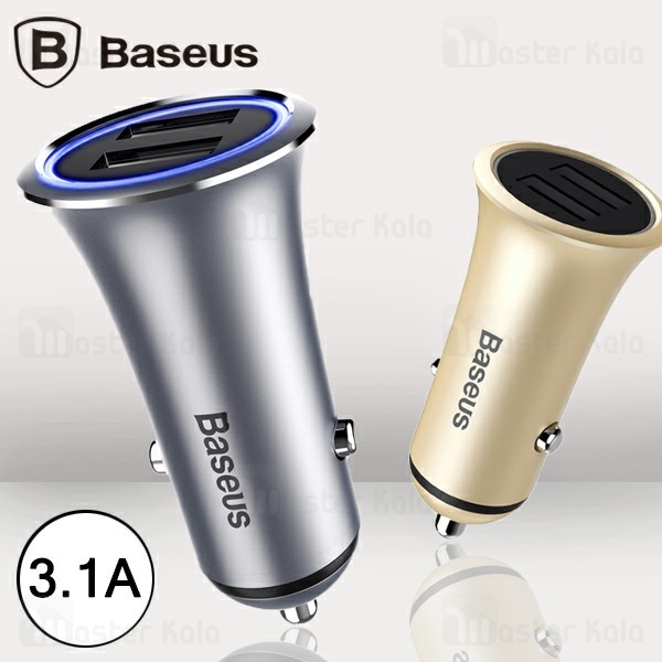 شارژر فندکی 2 پورت بیسوس Baseus Trumpet Car Charger CCLB-0V توان 3.1 آمپر