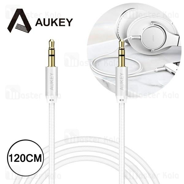 کابل انتقال صدا Aux آکی AUKEY CB-V12 Braided طول 1.2 متر و طراحی کنفی