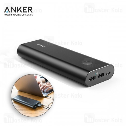 پاوربانک 20100 میلی آمپر انکر Anker A1371 Powercore Plus با پورت تایپ سی
