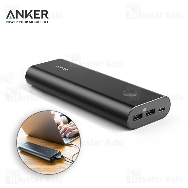 پاوربانک 20100 میلی آمپر انکر Anker A1371 Powercore Plus با پورت تایپ سی