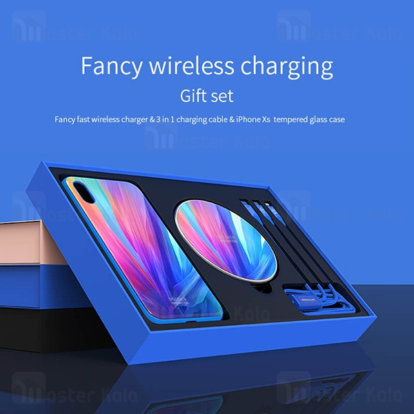 پک هدیه نیلکین آیفون Apple iPhone X / XS Nillkin Fancy wireless gift set